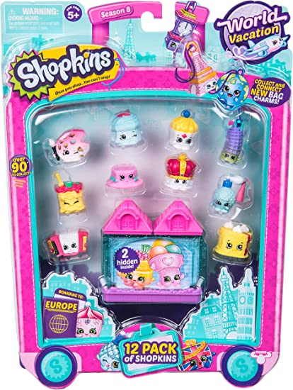 Amazon Com Shopkins World Vacation Europe 12 Pack Toys Games