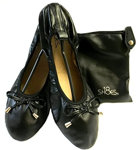 Amazon.com | Shoes 18 Women's Foldable Portable Travel Ballet Flat ...