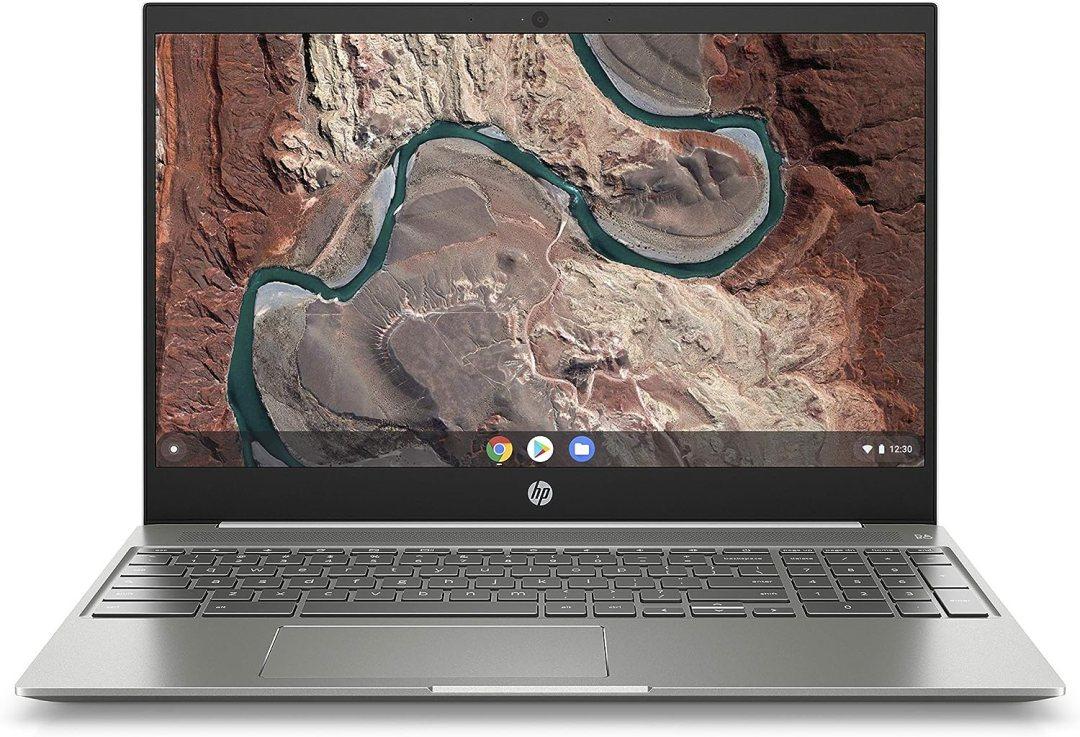 HP Chromebook 15-de0000nf PC Portable 15,6'' FHD IPS Blanc (Intel Pentium Gold, RAM 4 Go, eMMC 64 Go, AZERTY, Chrome OS)