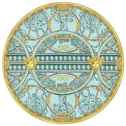 Versace Piatto 33cm La Scala Del Palazzo Verde Amazonit