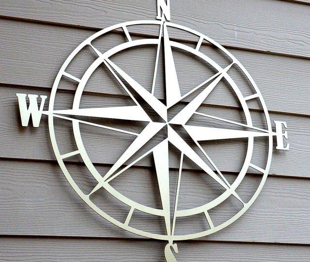Amazon Com Nautical Compass Rose Metal Wall Art Handmade