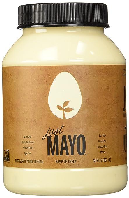 Hampton Creek, Just Mayo, Original, Gluten Free, Soy Free, Egg Free, 30oz Jar, Pack of 2