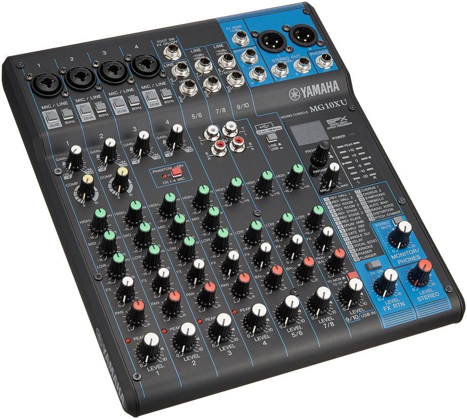 Yamaha MG10XU 10channels Negro mezclador de audio