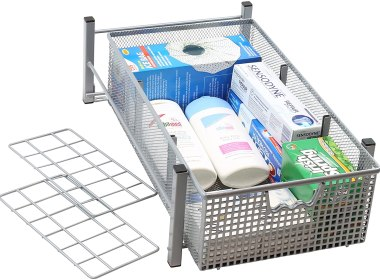 DecoBros Mesh Cabinet Basket Organizer