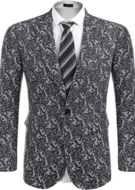 Coofandy Men's Slim Fit Suit Single-Breasted Casual One Button Blazer Jacket