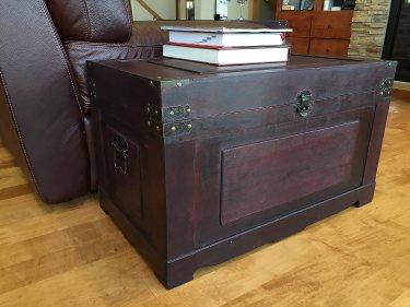 Newport Medium Wood Storage Trunk