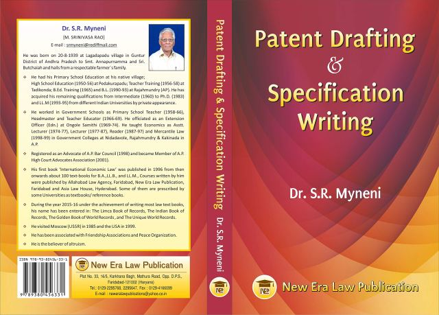 Buy Patent Drafting & Specification Writing Book Online at Low