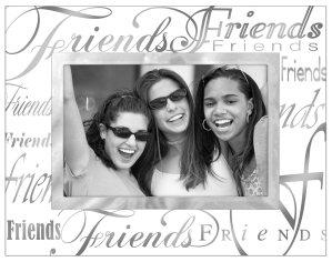 Malden International Designs Mirrored Glass Friends Picture Frame