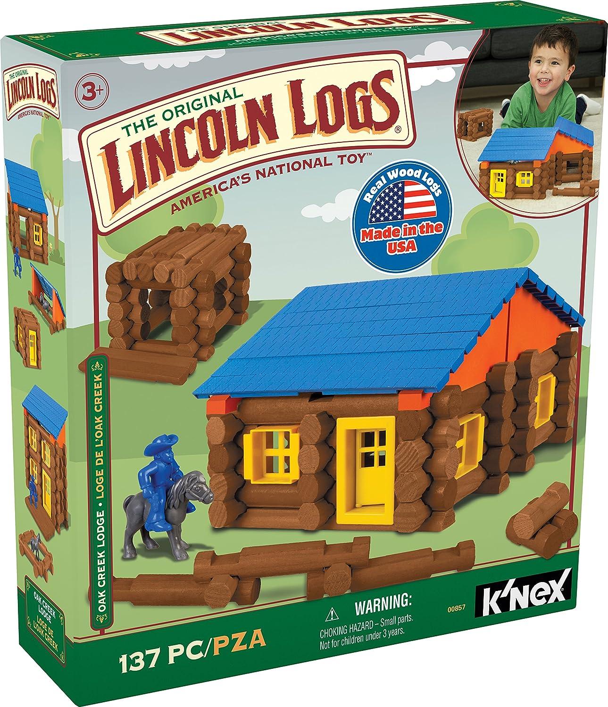 LINCOLN LOGS – Oak Creek Lodge – 137 Pieces –