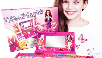Townley Girl Super Sparkly Lip Compact Cosmetic Set for Girls, 22