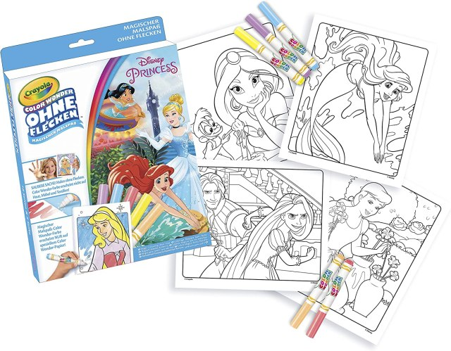 CRAYOLA 27.27 Prinzessinen Color Wonder-Disney Princess