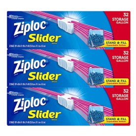 Ziploc Slider Storage Bags, Gallon Size, 96 Count