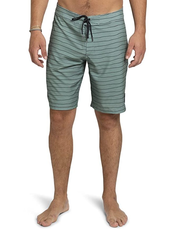 "Kove Mondo Boardshorts Recylced Men's Quick Dry 4 Way Stretch 20"" Matching Swimsuit 34 Sage Green"