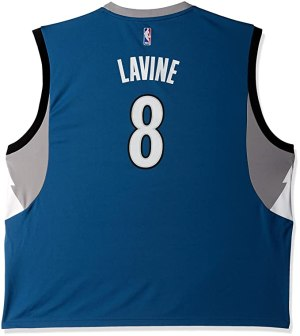 NBA Minnesota Timberwolves Zach LaVine #8 Men's Road Replica Jersey, Large, Blue