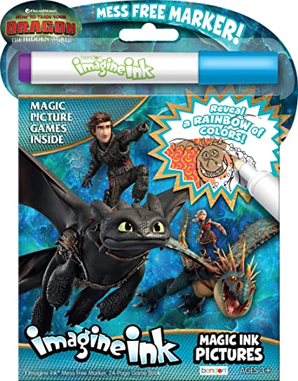 Amazon Com Bendon How To Train Your Dragon 3 Imagine Ink Magic Ink Pictures 13977 Toys Games