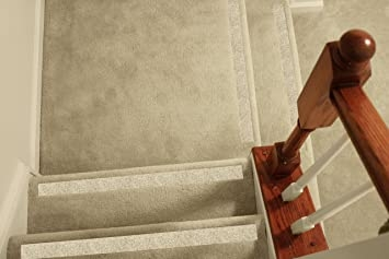 Amazon Com No Slip Strips Non Slip Nosing For Carpeted Stairs | No Slip Strips For Carpeted Stairs | Stair Nosing | Traction | Non Slip Nosing | Slippery Stairs | Tread Nosing