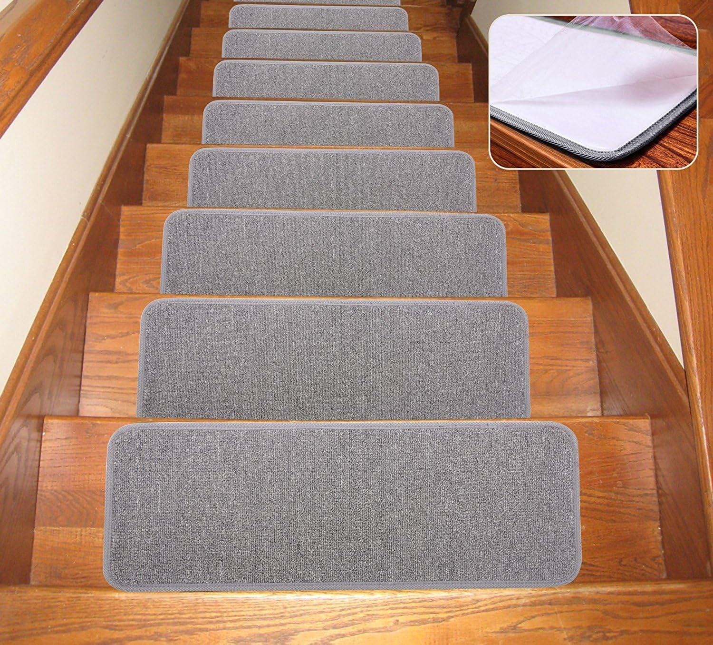 Amazon Com Seloom Carpet Stair Treads Non Slip Indoor Set Of 13 | Rug Stair Treads Non Slip | Bullnose Carpet | Gloria Rug | Slip Resistant | Tread Covers | Flooring