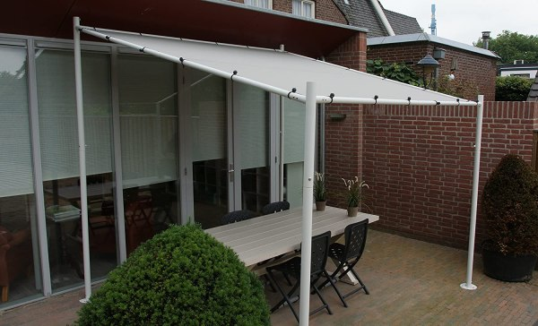 Pavillon | Grau / Sand | 285 x 220 x 300 x 200 cm (HxHxLxB)| SORARA | 250 g/m² Polyester (UV 50+)| für Garten, Patio, Outdoor von Sorara Outdoor Living B.V. - EUROPA