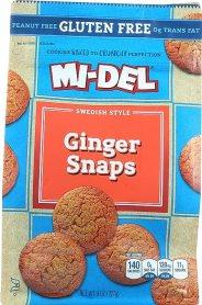 Mi-Del Gluten Free Cookies, Swedish Ginger Snaps, 8 Ounce