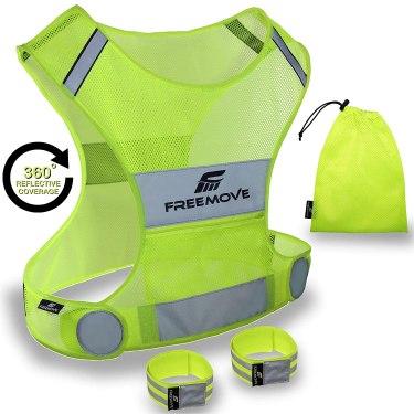 No.1 Reflective Vest Running Gear | YOUR BEST CHOICE TO STAY VISIBLE | Ultralight & Comfy Motorcycle Reflective Vest | Large Pocket & Adjustable Waist
