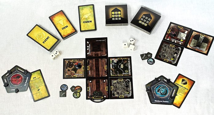 componentes de Betrayal at House on the Hill