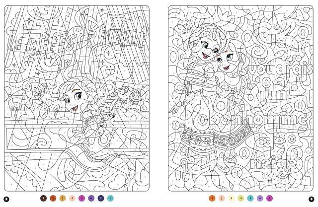 LA REINE DES NEIGES 20 - Coloriages Magiques - Messages mystères