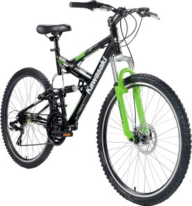 Kawasaki DX 26 Full Suspension Bicycle Best full suspension mountain bike under 500
