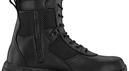 Maelstrom LANDSHIP 2.0 8'' Men's Black Tactical Boots With Zipper – Military, Work & Tactical Boots – Athletic, Breathable, Durable, Comfortable & Lightweight Boots For Men, Black, Size 12M