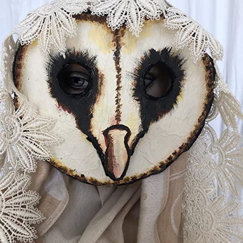 Amazon Com Barn Owl Masquerade Mask Bird Mask For Halloween Costume Handmade Custom Props Handmade