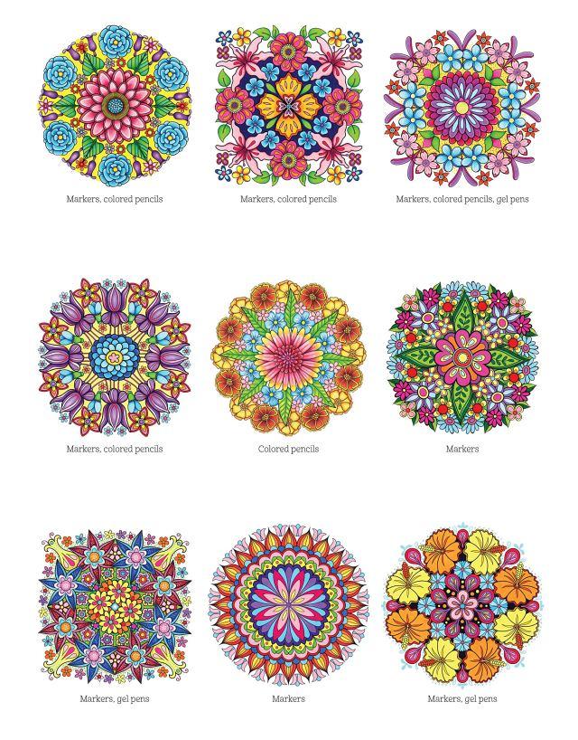 Amazon.com: Flower Mandalas Coloring Book (Design Originals) 27