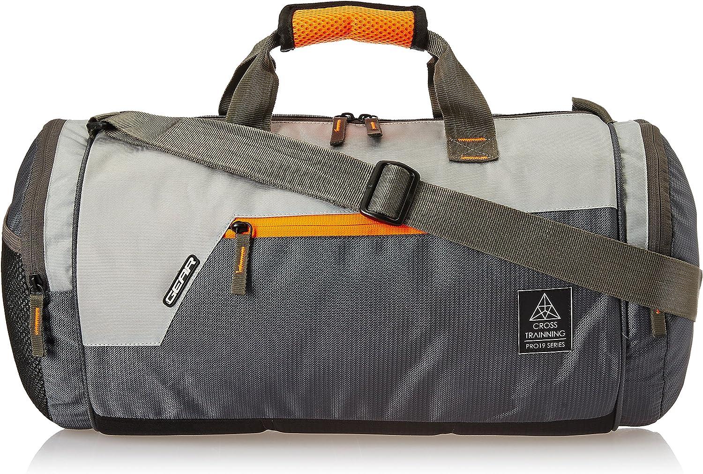 Gear Polyester 38 cms Grey Travel Duffle (DUFCRSTNG0406)