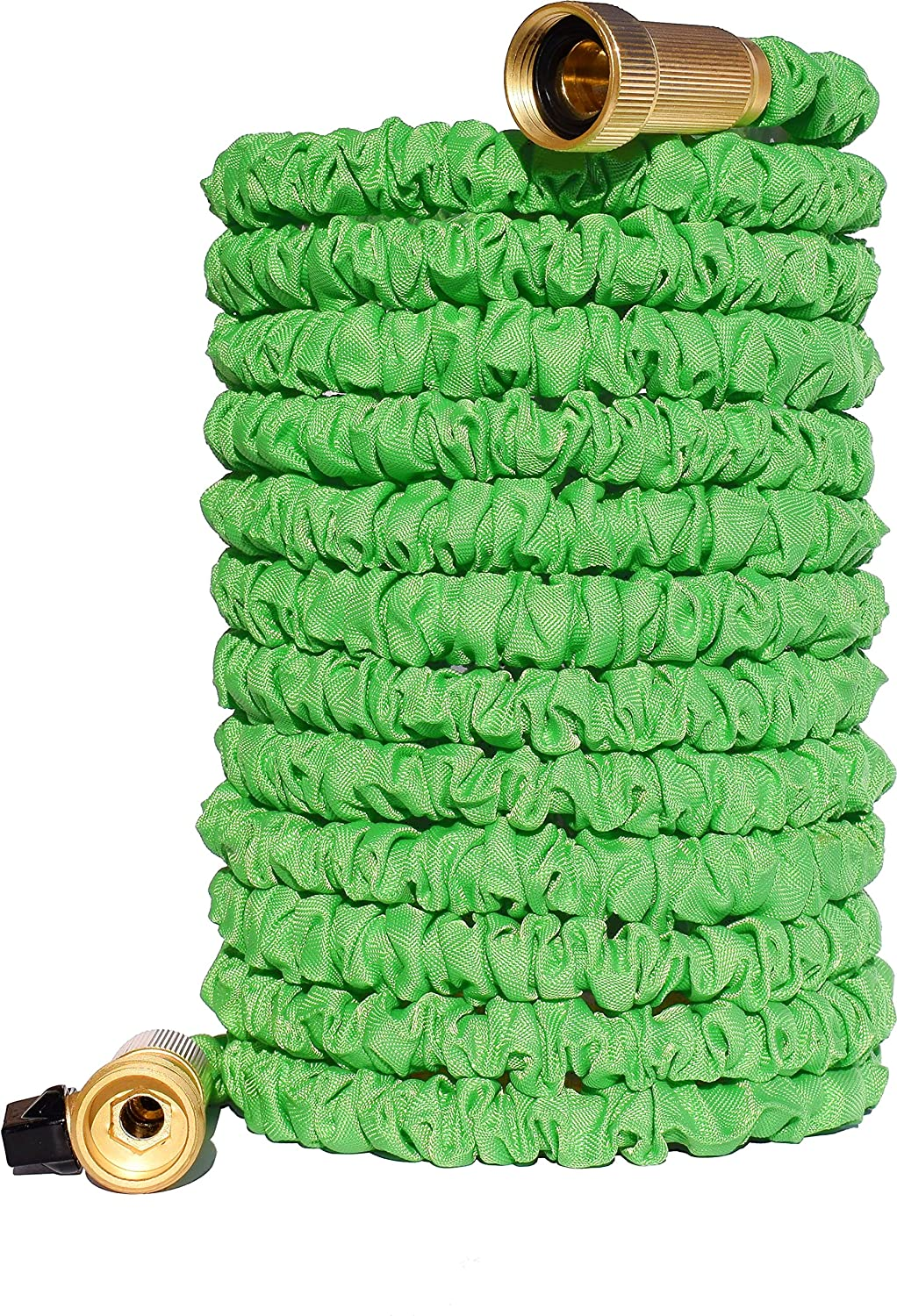 Golden Spearhead Triple Layer Latex Core Expandable Garden Hose with Brass Connectors, 50-Feet