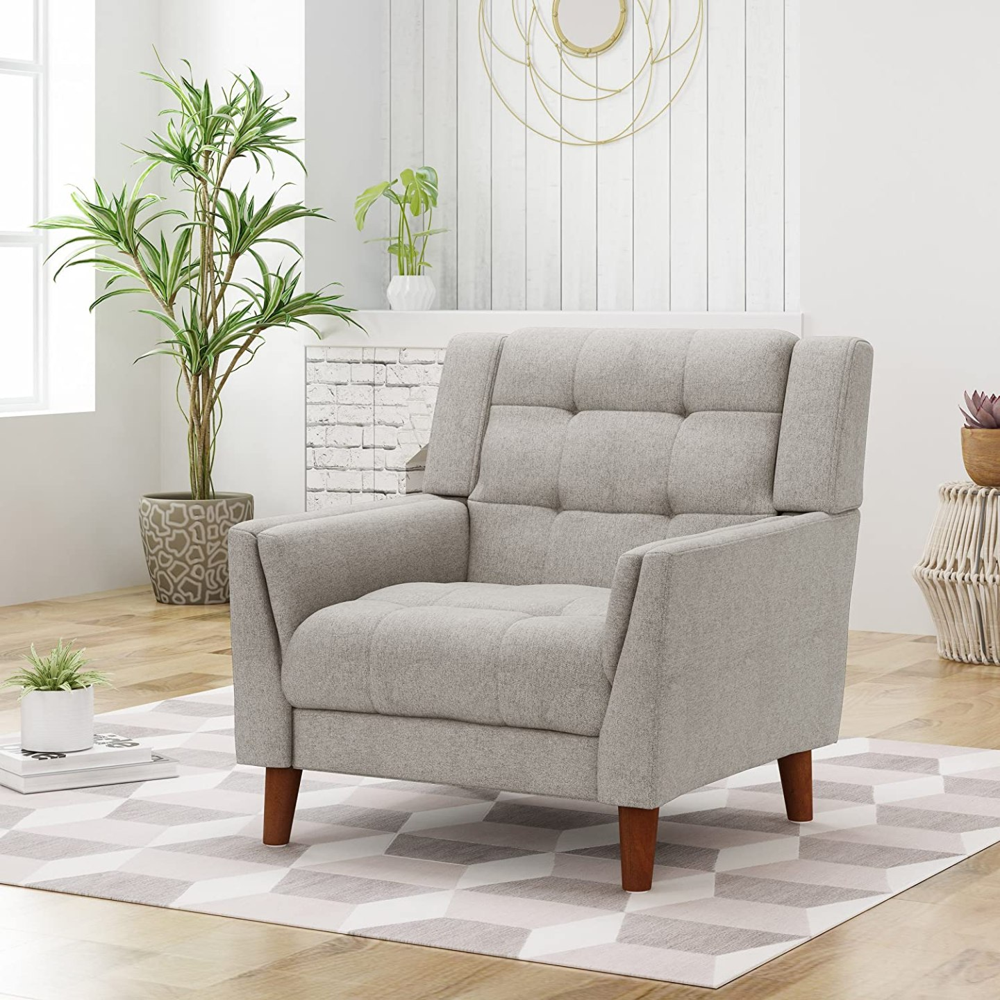 Modern Arm Chair cheap for sale - Armchair beige design for living room