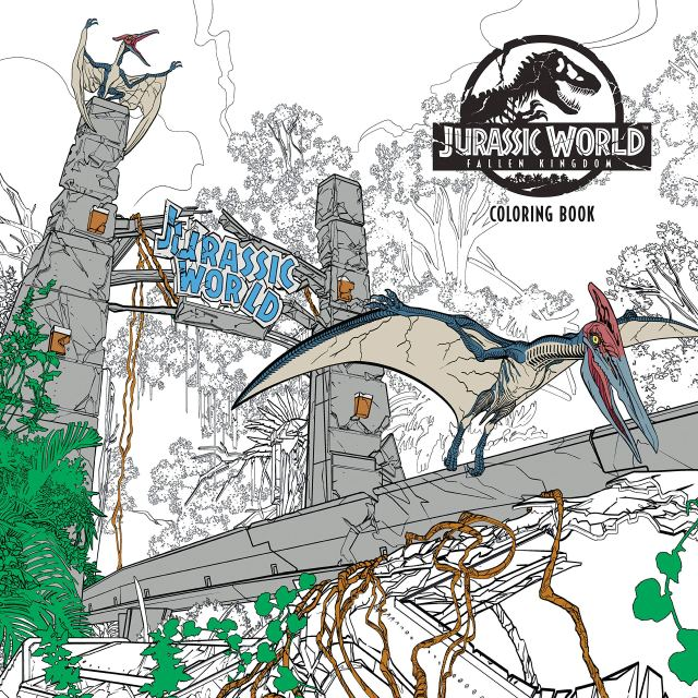 Amazon.com: Jurassic World: Fallen Kingdom Adult Coloring Book