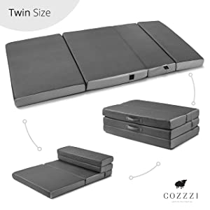 Cozzzi Twin Folding Mattress