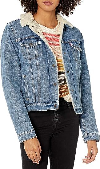 traditional blue warm jeans jacket