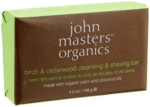 John Masters Organics Birch & Cedarwood Cleansing & Shaving Bar 4.5 oz