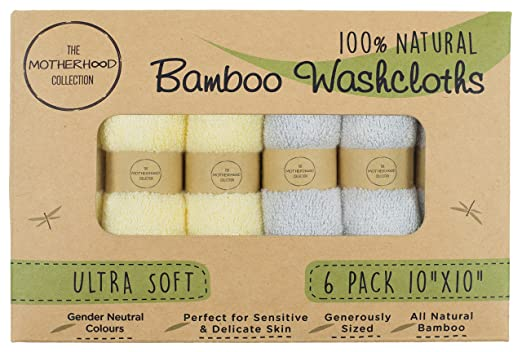 The Motherhood collection 6 Ultra Soft Baby Bath Washcloths