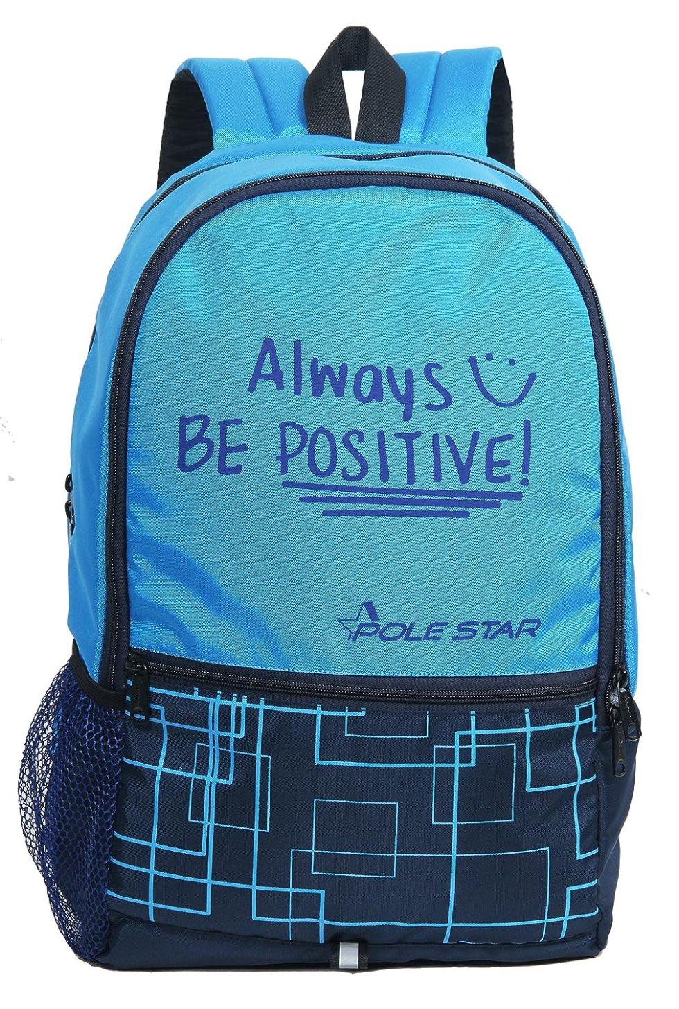 Hero 32 Lt Sky & Navy Casual Backpack/Day Pack Bag  under Polestar Travel Bag