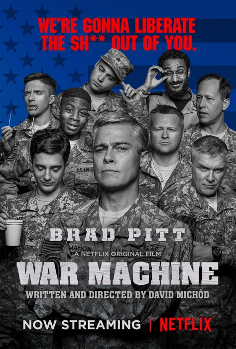 Poster for War Machine 2017