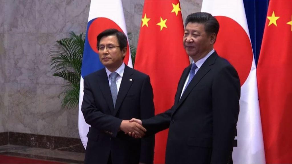 習近平會見到訪南韓總理黃教安 | Now 新聞
