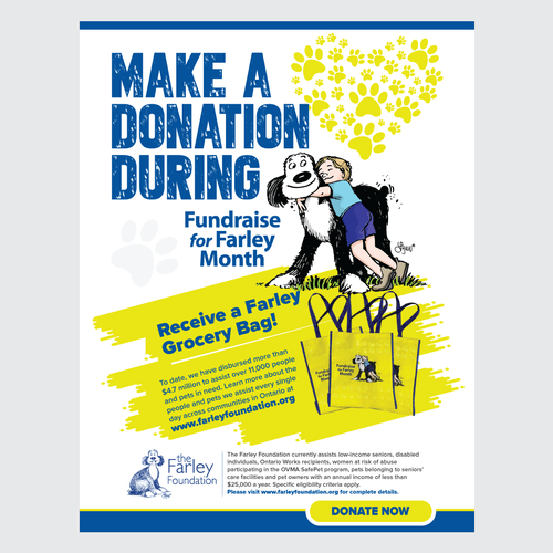 annual province wide fundraising poster