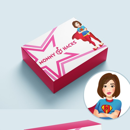 Design Mailer Box for Mommy Hacks Monthly Subscription Box ...