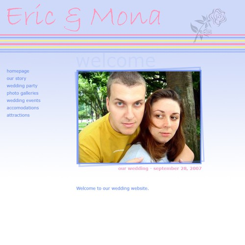 Rendering for a Personal Wedding Website   Web page design contest Entries from this contest