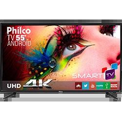 "c7782640b Smart TV LED 50"" Philips 50PUG6102 78 UHD 4K com Conversor Digital 4 HDMI"