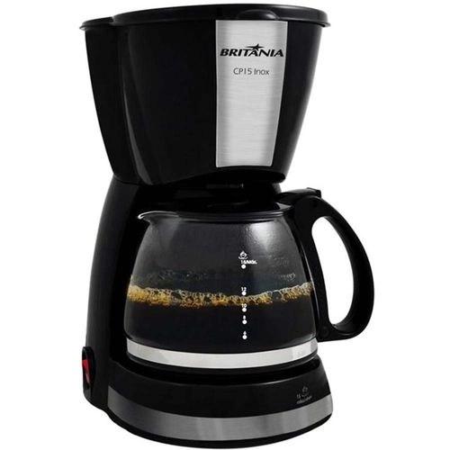 Cafeteira Eletrica CP15 Inox Preta 127v - Britânia no Shoptime