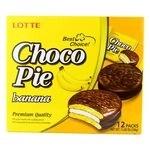 Choco pie banana lotte 12 mga PC 336g