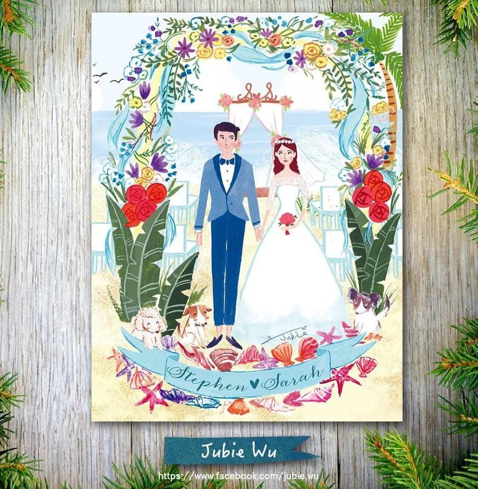 臺灣超可愛手繪「插畫喜帖」~去潛水,她把新娘的夢想都徹底圓滿了~ | GirlStyle ...