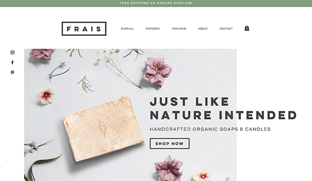 If you're a florist or wedding planner, this is the website template for you. Online Store Website Templates Wix Com