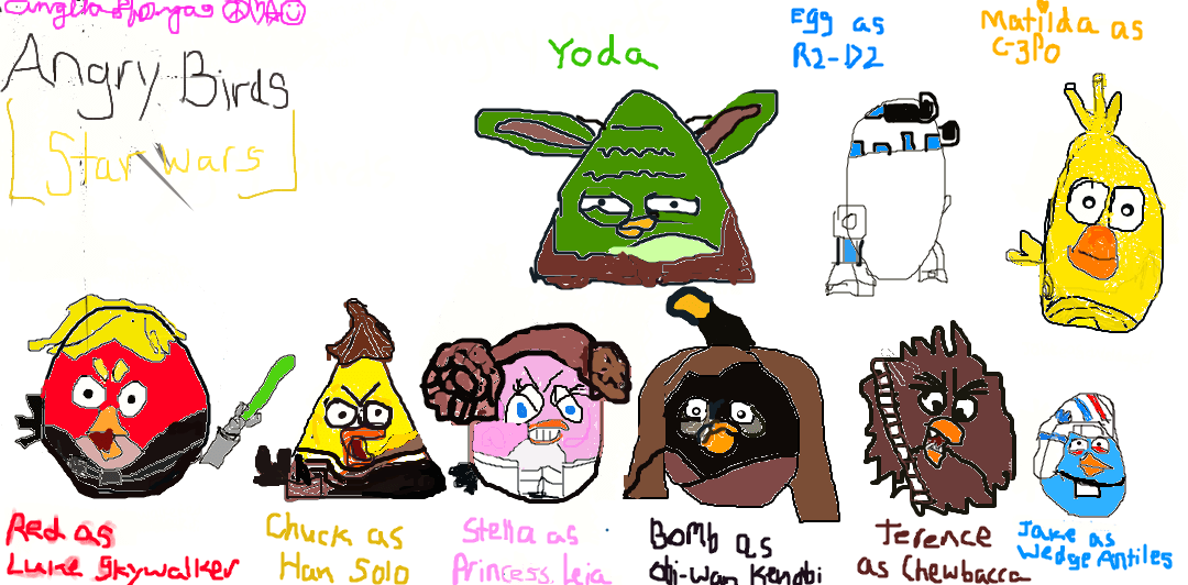 My Angry Birds Star Wars Digital Drawing By Angelalovesrio505 On Deviantart
